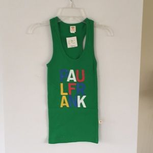 NWT Paul Frank green racer back tank XS